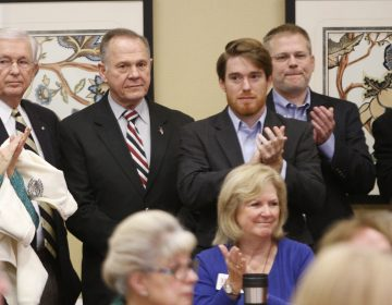 Former Alabama Chief Justice and U.S. Senate candidate Roy Moore waits to speak at the Vestavia Hills Public library, Saturday, Nov. 11, 2017, in Vestavia Hills, Ala. According to a Thursday, Nov. 9 Washington Post story an Alabama woman said Moore made inappropriate advances and had sexual contact with her when she was 14. Moore is denying the allegations.