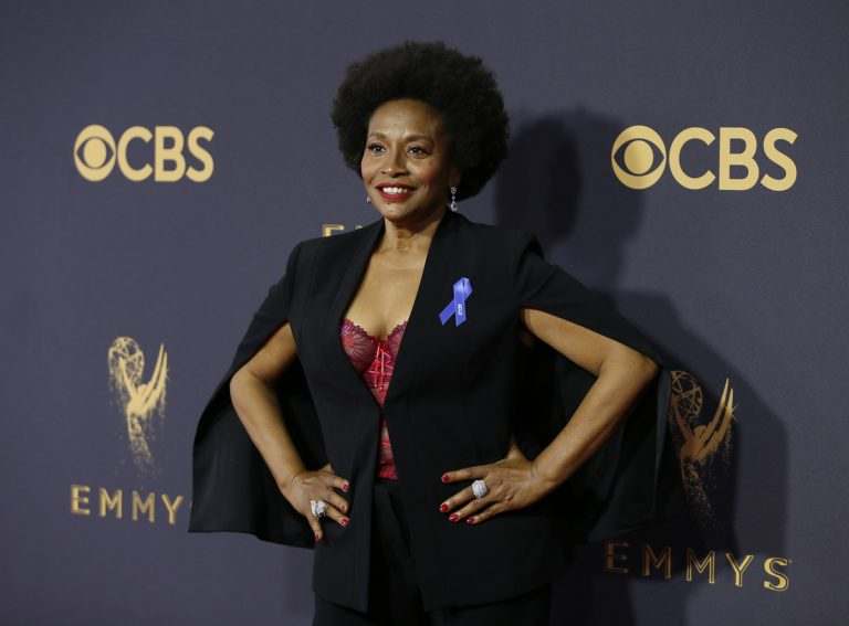 Jenifer Lewis arrives at the 69th Primetime Emmy Awards on Sunday, Sept. 17, 2017, at the Microsoft Theater in Los Angeles. (Photo by Danny Moloshok/Invision for the Television Academy/AP Images)