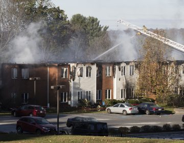 Firefighters at the scene of a fire at the the Barclay Friends Senior Living Community in West Chester, Pa., Friday, Nov. 17, 2017.