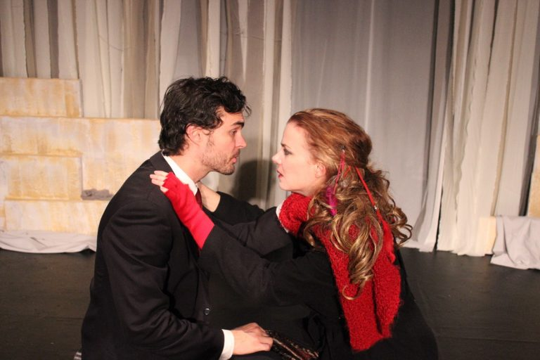 Arlen Hancock and Kirsten Quinn in Irish Heritage Theatre's production of