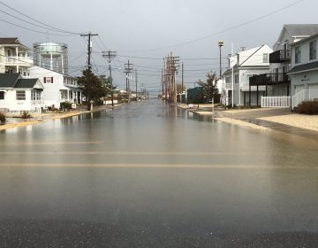 A file photo of minor tidal flooding in Seaside Park. (Image: Dominick Solazzo)