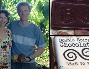 Mhairi and Stuart Craig make dark chocolate with unrefined sugar in Arden, Delaware. (photo courtesy Double Spiral Chocolate)