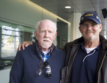 Lou Farren (left) and Brad Ward both served in Vietnam, and received lungs from the same organ donor.