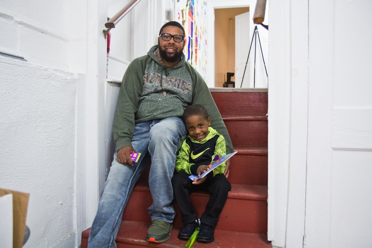 Rickey Duncan, with his 4 year old son Zaid