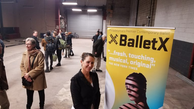 Executive and artistic director Christine Cox at the BalletX groundbreaking.