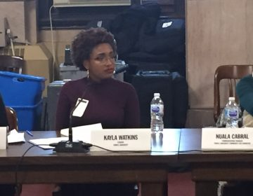 Kayla Watkins took part in a roundtable discussion on ways of ending harassment on the street. Watkins says it's a