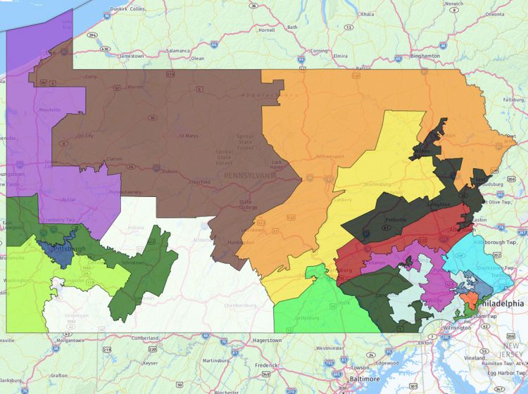 Pennsylvania's 2011 congressional map is being challenged this week in Commonwealth Court. (Keystone Crossroads)