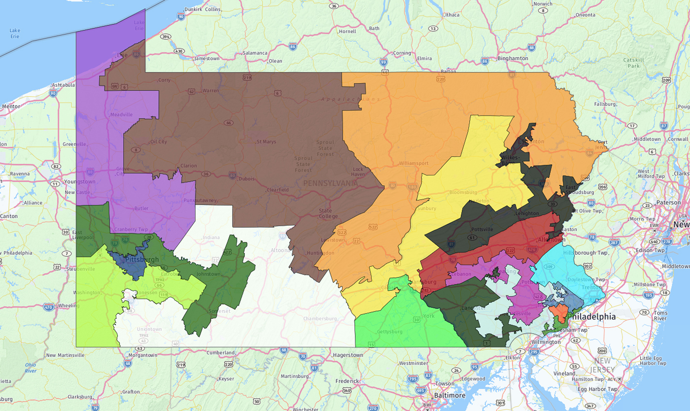 two lawsuits were fast tracked through state and federal courts challenging pennsylvania s congressional district map in federal court judges upheld the
