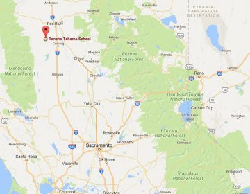 map showing Rancho Tehama School