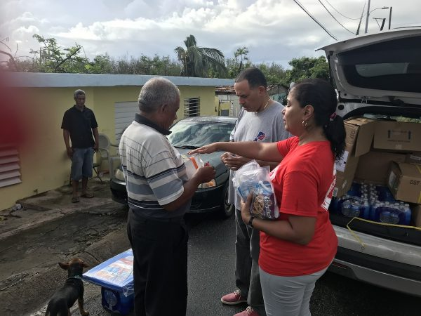 Councilwoman Maria Quiñones-Sánchez during a weeklong trip in Puerto Rico  (Rev. Bonnie Camarda at Salvation Army)