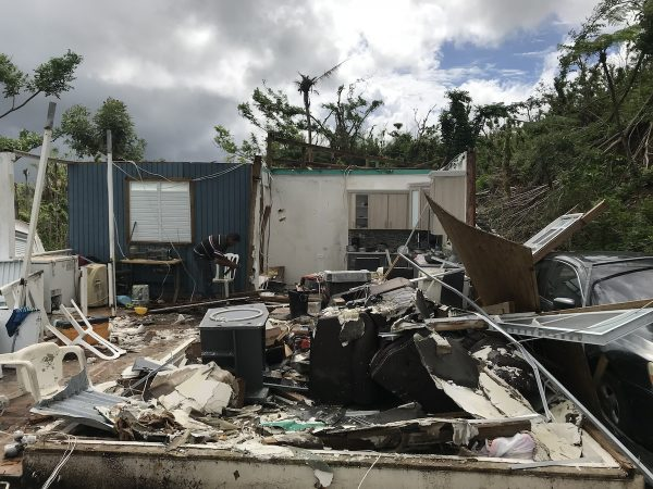 Destruction from Hurricane Maria still apparent in Puerto Rico (Rev. Bonnie Camarda at Salvation Army)