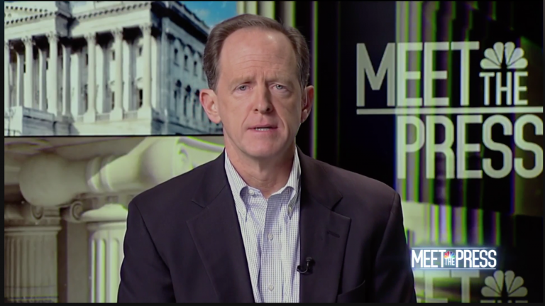 Sen. Pat Toomey appearing on NBC's
