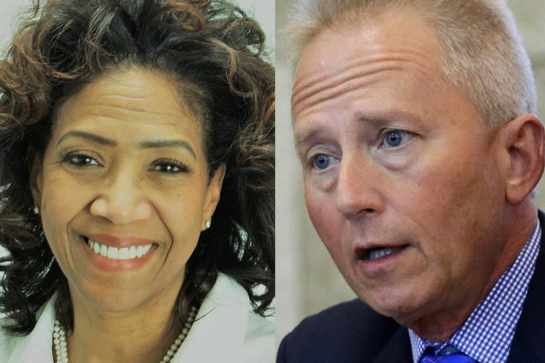 Tanzie Youngblood, a democrat and retired teacher, (left); and Sen. Jeff Van Drew, D-Cape May Court House, (right), will compete for Congressman Frank LoBiondo's New Jersey House of Representatives seat in the 2nd district. (Facebook and Mel Evans/AP, file)