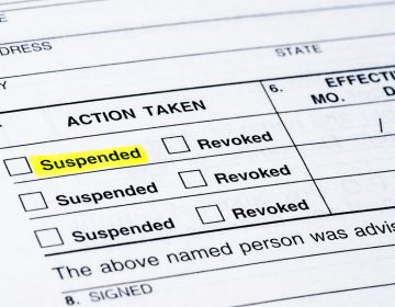 A form from the DMV suspending a driver's license. (File photo from Big Stock)