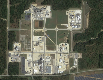Chemours facility in Fayettville, North Carolina seen here via Google Earth has been cited by the NC Department of Environmental Quality for an October spill.  (image via Google Earth)