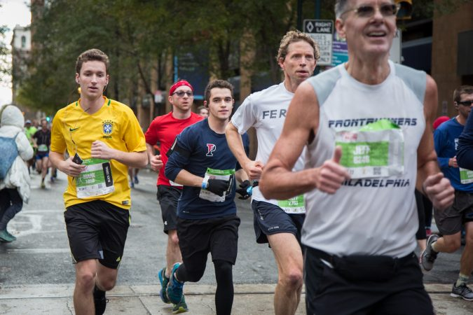 Runners weave their way through historic Philadelphia at the 23rd annual Philadelphia Marathon on Sunday November 19th, 2017.