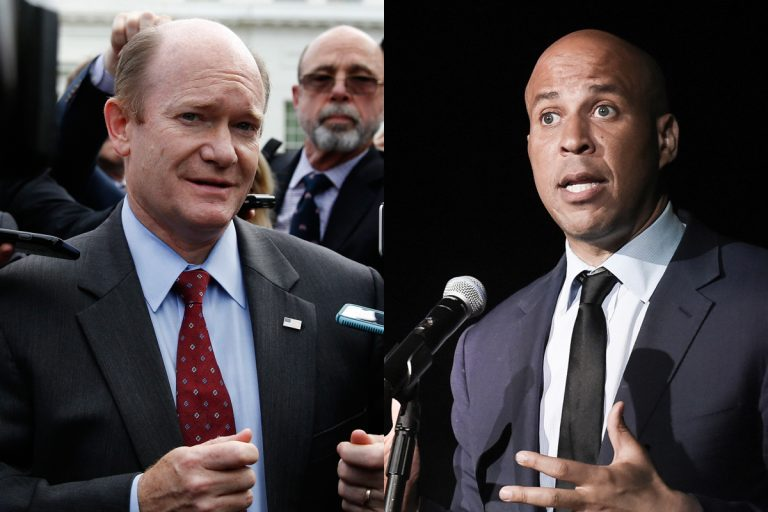 Sen. Chris Coons of Delaware and Sen. Cory Booker of New Jersey are leading efforts to block the firing of special prosecutor Robert Mueller