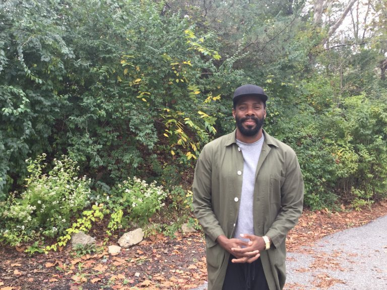 Actor, director and playwright Colman Domingo. (Kyrie Greenberg/WHYY)