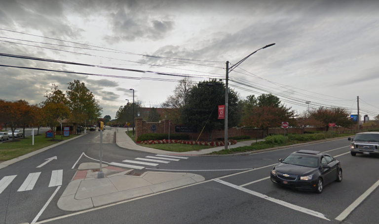 The entrance to Delaware State University on N. DuPont Highway in Dover is seen in this Google Maps image. (photo via Google Maps)