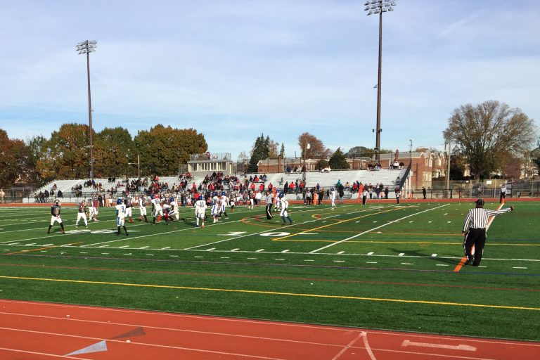 Two Mastery charter school football teams face off