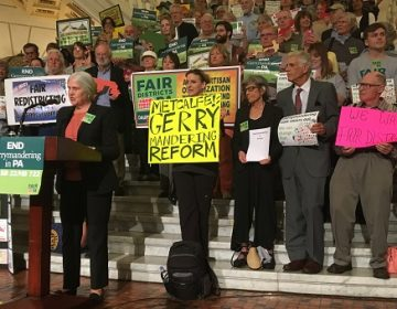Advocates try to convince lawmakers to act on gerrymandering. (Katie Meyer, WITF)