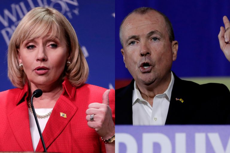 Republican gubernatorial candidate Lt. Gov. Kim Guadagno (left) and Democratic candidate Phil Murphy are making their final pitches to voters.