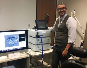 Roy Hamilton runs the laboratory for cognition and neural stimulation at the University of Pennsylvania.  (Elana Gordon/WHYY)