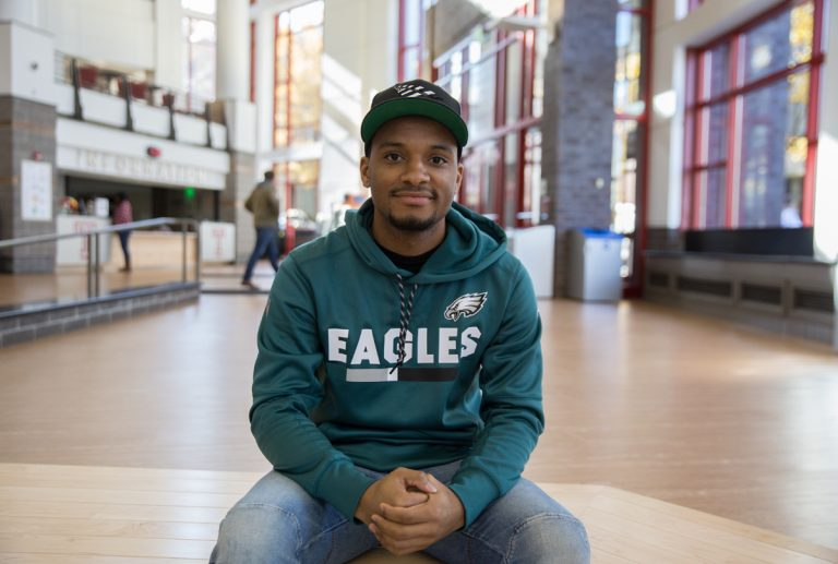 Hazim Hardeman is the first Temple University graduate heading to Oxford University in England as a Rhodes scholar. (Lindsay Lazarski/WHYY)