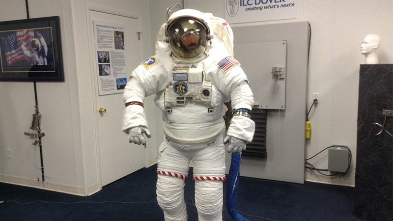In 1962, ILC Dover won a bid to build the Apollo spacesuit — and to this day, the company supplies all the EVA space suits used by NASA at the International Space Station. (Zoë Read/WHYY)