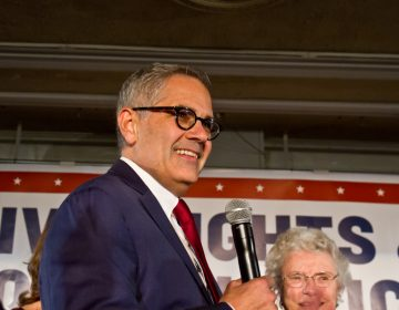 Philadelphia District Attorney Elect Larry Krasner speaks at his victory party