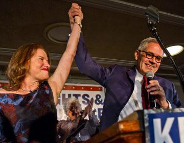 Philadelphia District Attorney Elect Larry Krasner celebrates