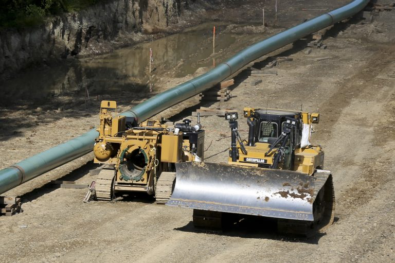 A pipeline construction site in Jackson Township, Butler County, Pa. A recent ruling over a disputed valve station in Chester County has created more construction delays for the Mariner East 2 natural gas liquids pipeline. (Keith Srakocic/AP Photo)