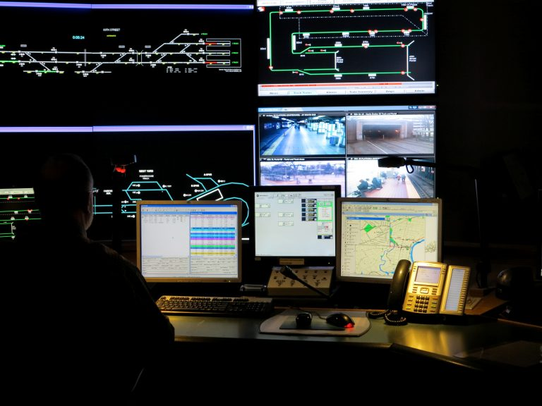 SEPTA control center - trolley lines