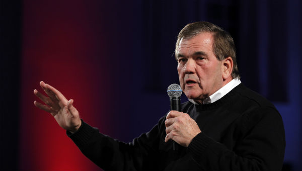 Former Pennsylvania Gov. and former Homeland Security Secretary Tom Ridge speaks during a campaign event in Peterborough, N.H in this 2012 file photo. (Matt Rourke/AP Photo)