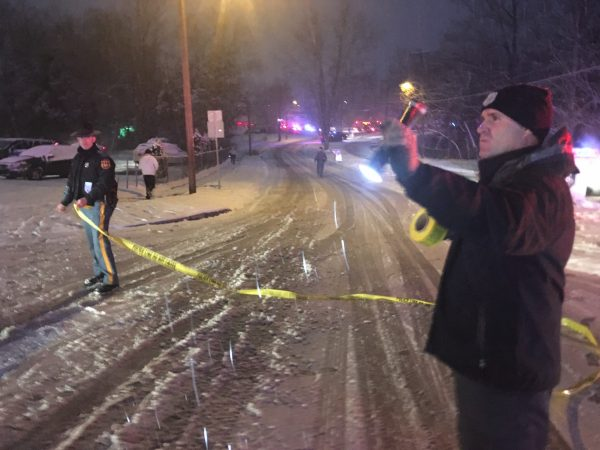 A Delaware State Police trooper shot and killed a driver during a traffic stop after the suspect drove off dragging the trooper with him. (John Jankowski/for WHYY)