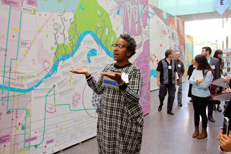 Artist Charlyn Griffith describes the creation of a mural exhibited at the Perelman Building of the Philadelphia Museum of Art as part of the citywide civic engagement project, ''Philadelphia Assembled.''