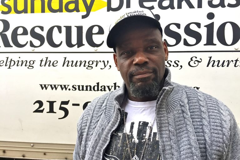 Former inmate Robert Rice is on this third stay at the Sunday Breakfast Rescue Mission.