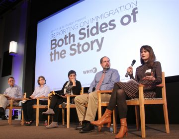 Laura Benshoff (right) describes the obstacles she's encountered while reporting on immigration for WHYY during