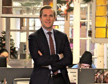 Evan Urbania, CEO of ChatterBlast marketing located in Philadelphia's Gayborhood.