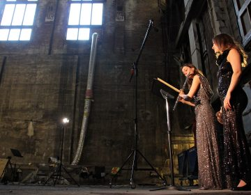 The soaring space that once held a million books at the Free Library's central branch becomes a temporary concert hall for flutist Anna Urrey and vocalist Katherine Skovira.