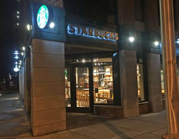 Trenton's first and only Starbucks is located at the intersection of Warren and East Front streets. (Alan Tu/WHYY)