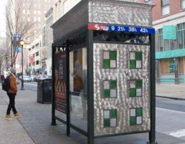 7th and Chestnut bus stop (Ashley Hahn/PlanPhilly)