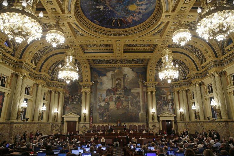 Members of the Pennsylvania House of Representatives advanced a measure to outlaw automatic deductions from state workers' paychecks.debate.