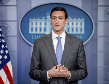 Homeland security and counterterrorism adviser Tom Bossert speaks about malware known as WannaCry, Monday, May 15, 2017, during the daily press briefing at the White House in Washington (Andrew Harnik/AP Photo)