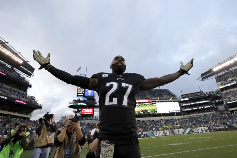 Philadelphia Eagles' Malcolm Jenkins reacts after an NFL football game against the Denver Broncos, Sunday, Nov. 5, 2017, in Philadelphia. (Michael Perez/AP Photo)
