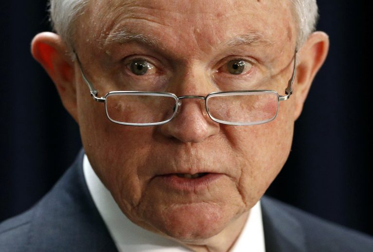 Attorney General Jeff Sessions speaks at a news conference in Baltimore, Tuesday, Dec. 12, 2017, to announce efforts to combat the MS-13 street gang with law enforcement and immigration actions. (Patrick Semansky/AP Photo)