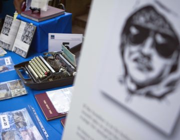 Personal items that once belonged to Ted Kaczynski, aka the Unabomber, are displayed for an online auction with proceeds to benefit the victims' families Wednesday, May 18, 2011 in Atlanta. The items include handwritten letters, typewriters, tools, clothing and several hundred books. (David Goldman/AP Photo)