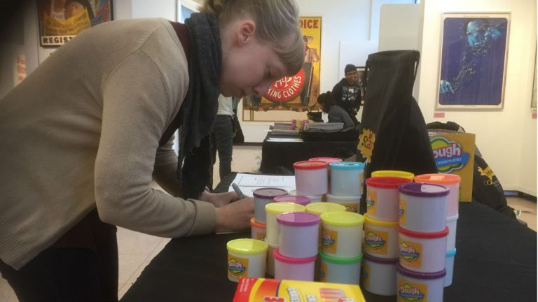 Students and staff at DCAD organized arts donations