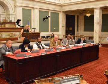 Philadelphia City Council's Law and Government Committee prepares to amend a City Charter change bill. (Tom MacDonald/WHYY)