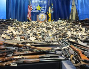 In January 2013, residents turned in more than 2,600 weapons for cash payments in Trenton. (Phil Gregory/WHYY)